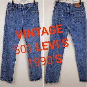 Vintage 501 Levi's Acid Wash || W 34 L 32